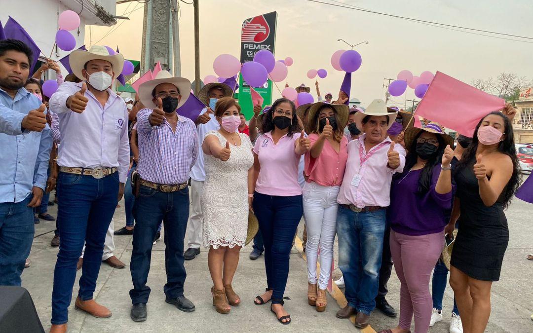 Con gran entusiasmo y respaldo cuidadano  arranca su campaña Arturo Leyva en Tihuatlán