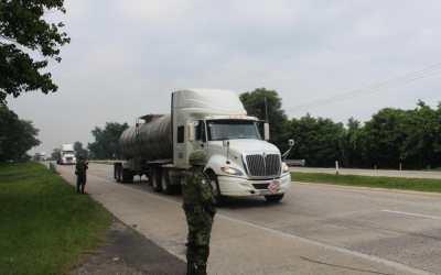 Ejército Mexicano materializa el Plan de Operaciones deTransporte Terrestre de Combustible.