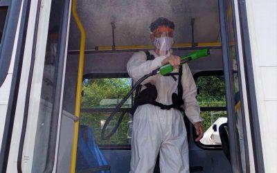 Sanitiza SSP 277 mil 320 unidades del servicio de transporte público