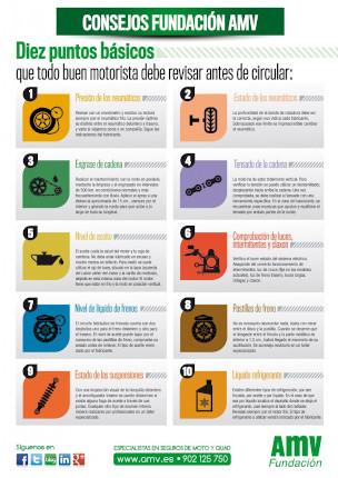 Cómo revisar tu moto antes de circular: Infografía AMV seguros