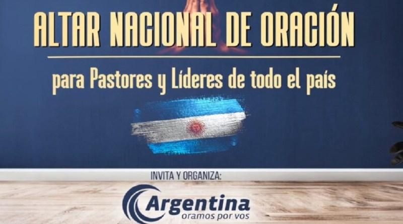 Convocan a pastores de todo el país para levantar un Altar Nacional de Oración