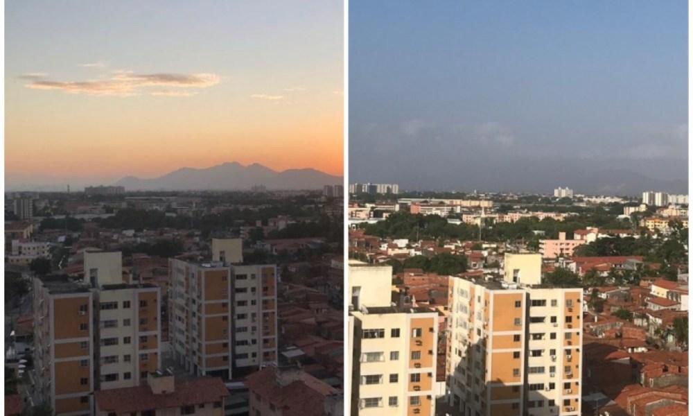 Fumaça das queimadas na África atravessa Oceano Atlântico e muda cor do céu de Fortaleza; veja fotos