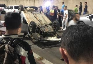 Homem sofre acidente e bate em dois carros próximo à UNILEÃO