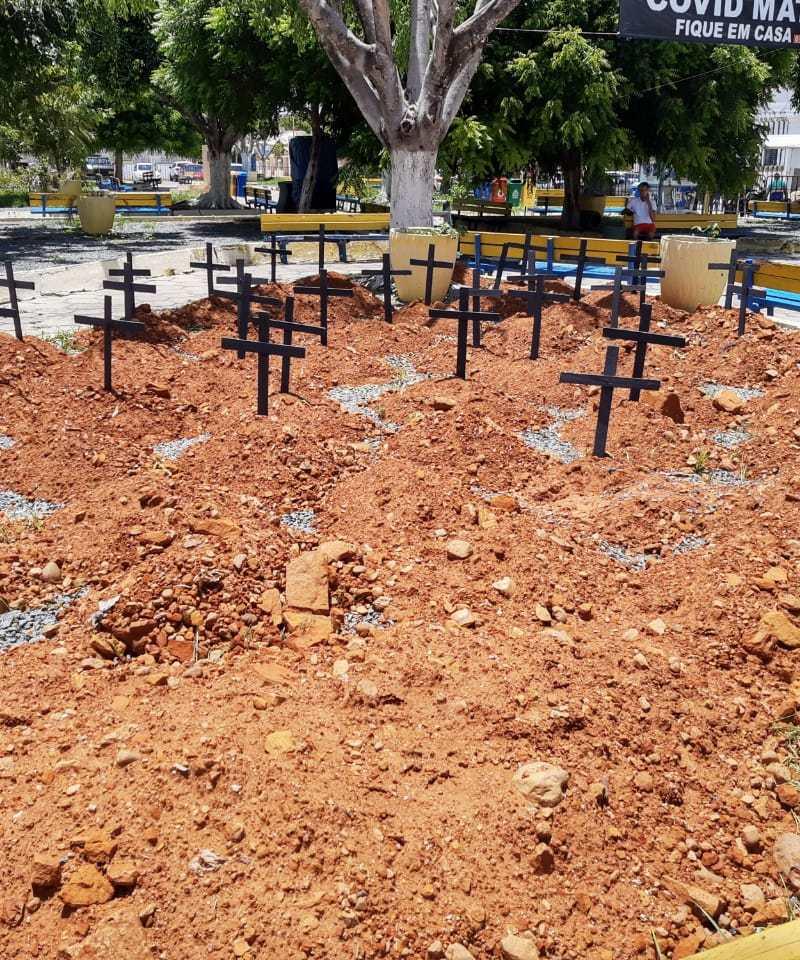 Prefeitura de Mauriti realiza intervenção para conscientizar a população sobre o perigo da Covid-19