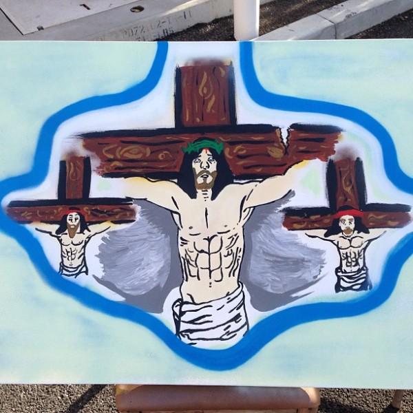 chris brown - jesus crucificado