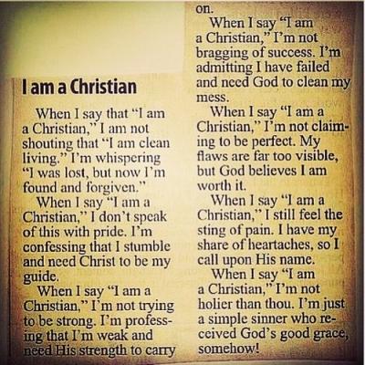 i am a christian - carol wimmer