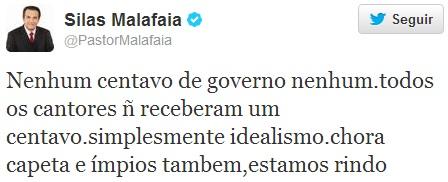 twitter malafaia-chora capeta
