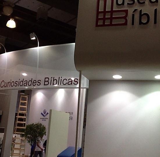 Museu da Bíblia no estande da Sociedade Bíblica do Brasil