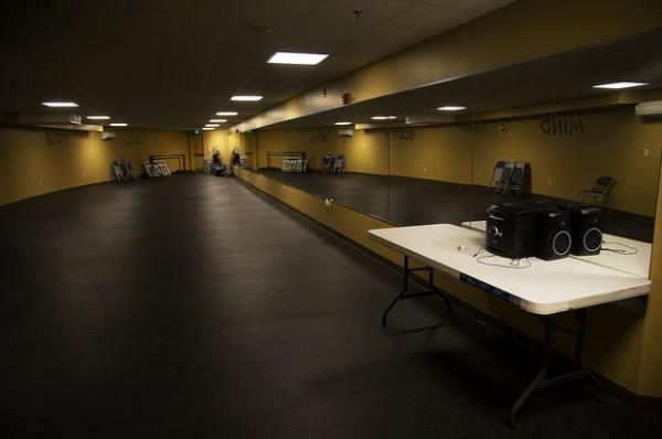 Espaço para aulas de dança e artes marciais