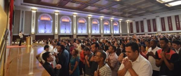 Pastores participam de evento no Templo de Salomão