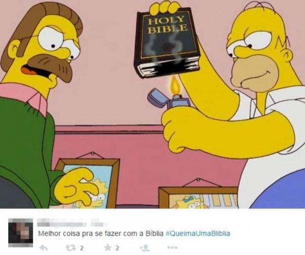 Internauta incentiva queima da Bíblia com a hashtag #QueimaUmaBliblia