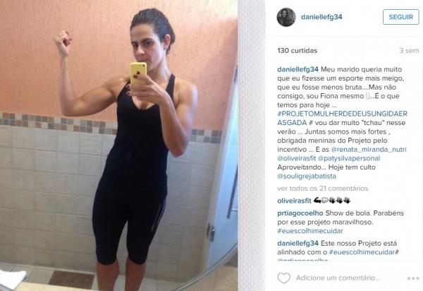 Perfil de Danielle Favatto no Instagram
