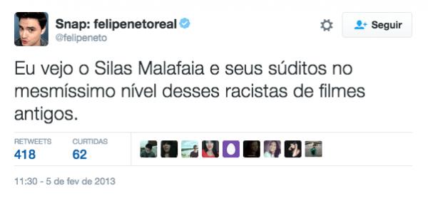 Felipe Neto compara fiéis da Assembléia de Deus Vitória em Cristo a racistas de filmes
