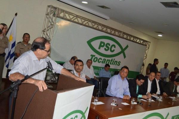 Pastor Everaldo na mesa da Convenção do PSC. (Foto: JMNotícia)