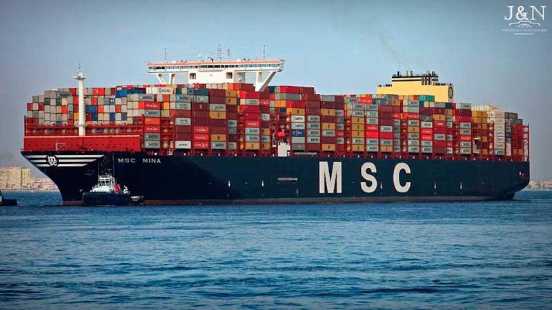 4. MSC Mina (2019). TEU máximo: 23.656 (De estas características hay cinco barcos).