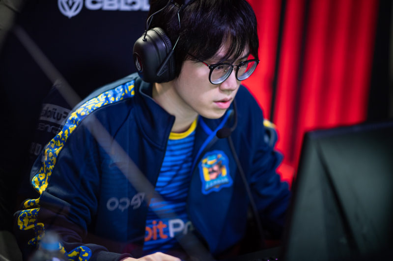 Croc's photo during the CBLOL final