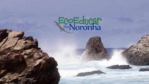 Vídeo ambiental é mostrado no aeroporto de Noronha para os turistas que estão chegando.