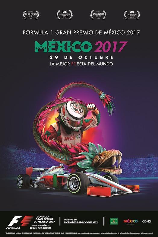 cartel oficial FORMULA 1 GRAN PREMIO DE MÉXICO