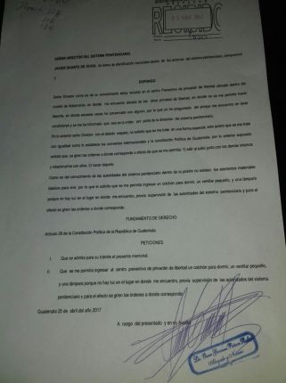 carta duarte carcel de guatemala