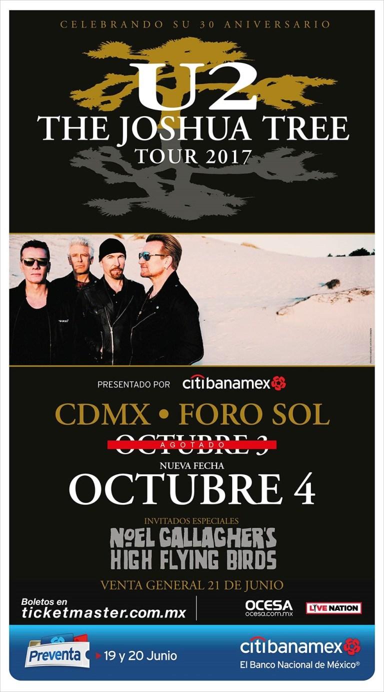 U2 abre nueva fecha en México 3