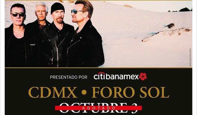 U2 abre nueva fecha en México