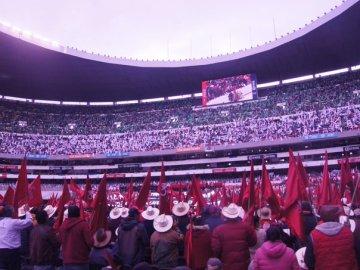 A una semana de la final entre América - Monterrey el Azteca fue usado para evento de Antorcha Campesina 1