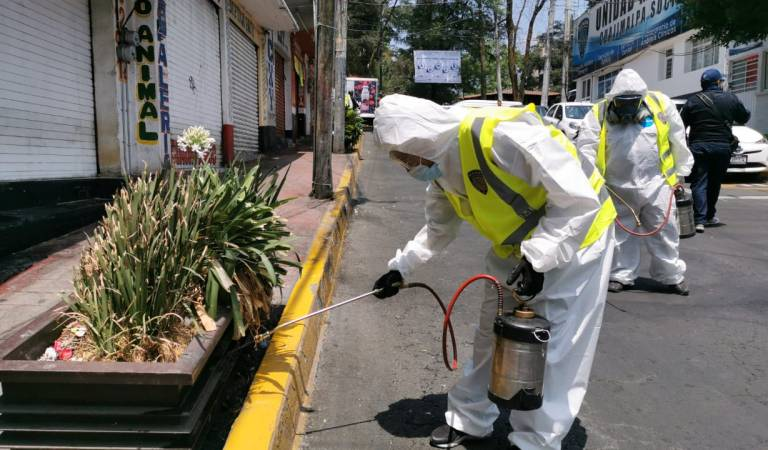 Difunden video de operativo de sanitización en Cuajimalpa