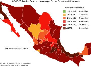 #COVID19 en México 26 de mayo 2020, casos defunciones, activos y tasa de incidencia nacional y por estado 7