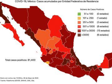 #COVID19 en México 28 de mayo 2020, casos defunciones, activos y tasa de incidencia nacional y por estado 4