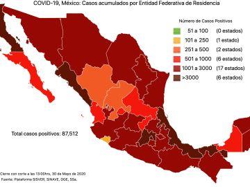 #COVID19 en México 30 de mayo 2020, casos defunciones, activos y tasa de incidencia nacional y por estado 1