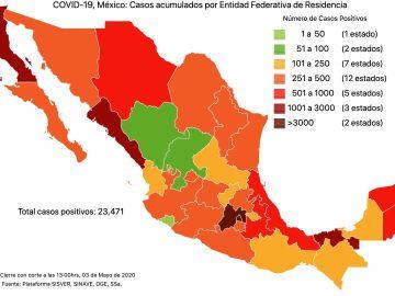 #COVID19 en México 3 de mayo 2020, casos  defunciones y tasa de incidencia nacional y por estado 9