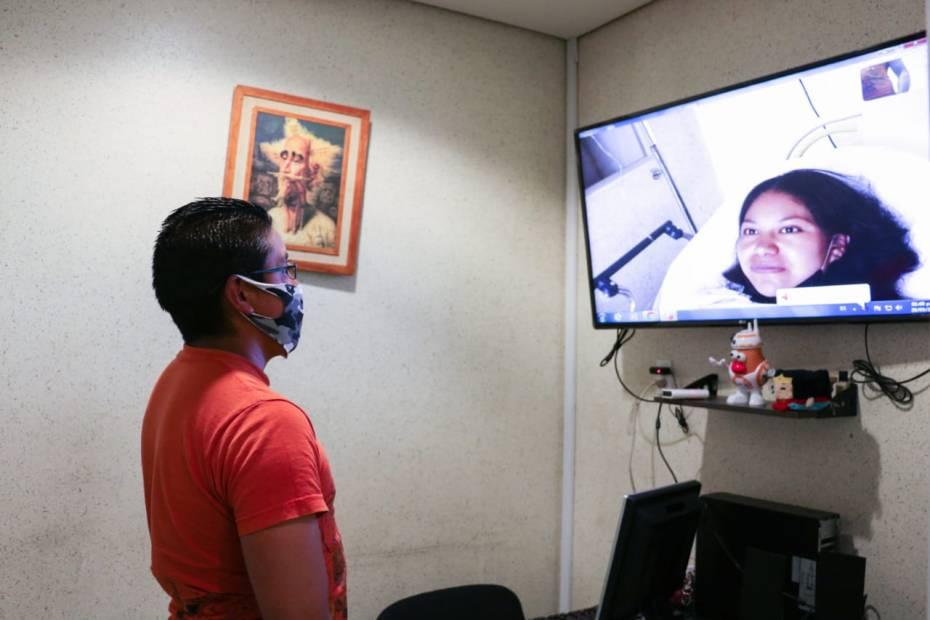 Visitas virtuales a familiares de pacientes para evitar contagios #COVID-19 en hospital del Edomex 3