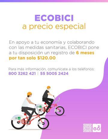 Ecobici presenta precio especial 24