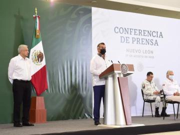 """Ni confrontación ni reclamos, así el discurso de Jaime Rodríguez """"El Bronco""""- Mañanera de Nuevo León 1"""