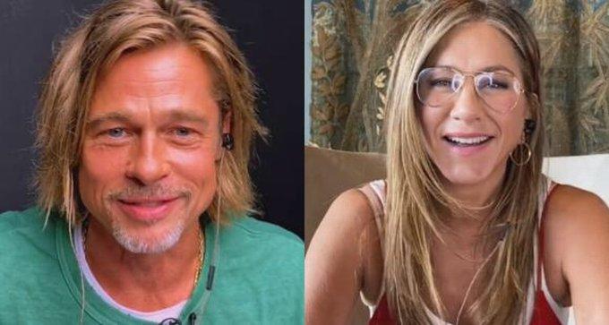 Así fue el reencuentro virtual entre Jennifer Aniston y Brad Pitt (Video)