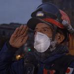 Ceremonia de Izamiento de Bandera en memoria de las víctimas de los sismos de 1985 y 2017 17