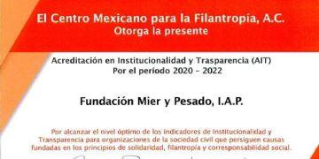 CEMEFI reconoce la Institucionalidad y Transparencia de la Fundación Mier y Pesado 8