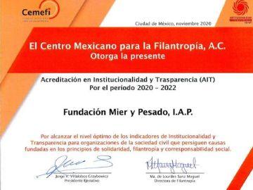CEMEFI reconoce la Institucionalidad y Transparencia de la Fundación Mier y Pesado 3