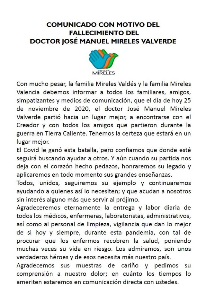 Confirman la muerte de José Manuel Mireles, ex líder de las autodefensas en Michoacán 1