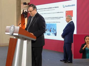 """""""Nos toca ser optimistas"""": Ebrard de los resultados de vacunas contra Covid-19 7"""