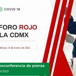 """""""CDMX se mantiene en semáforo rojo y con las mismas restricciones"""", Sheinbaum 4"""