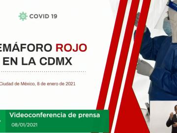 """""""CDMX se mantiene en semáforo rojo y con las mismas restricciones"""", Sheinbaum 5"""