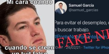 """Así desmiente Samuel García tuit """"falso"""" que se volvió viral 9"""