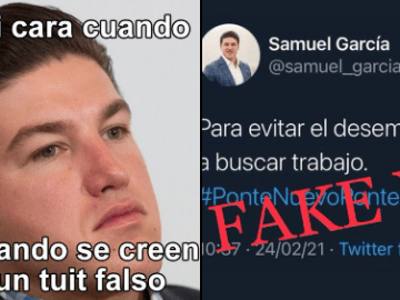 """Así desmiente Samuel García tuit """"falso"""" que se volvió viral 7"""