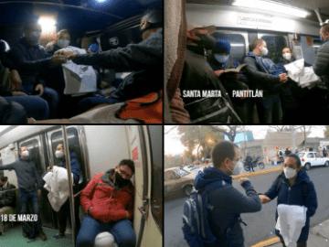 En combi y en metro, Ricardo Anaya acompaña a enfermera responsable de hacer pruebas Covid en clínica del IMSS (video) 13