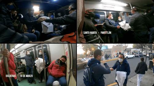 En combi y en metro, Ricardo Anaya acompaña a enfermera responsable de hacer pruebas Covid en clínica del IMSS (video)