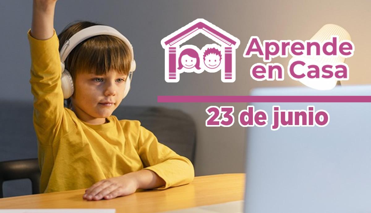 23 de junio aprende en casa