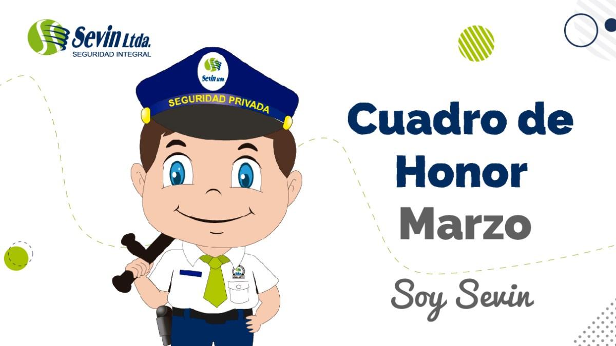 Cuadro de Honor mes de marzo