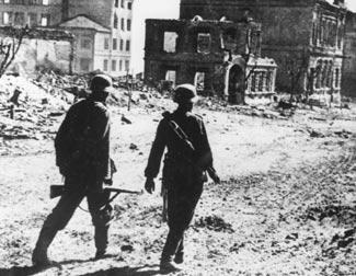 Barco Soldados alemães em Stalingrado