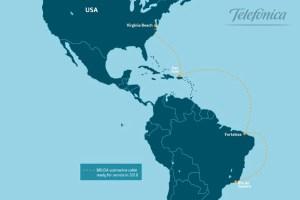 Telefónica desplegará BRUSA, cable submarino entre Brasil y EEUU